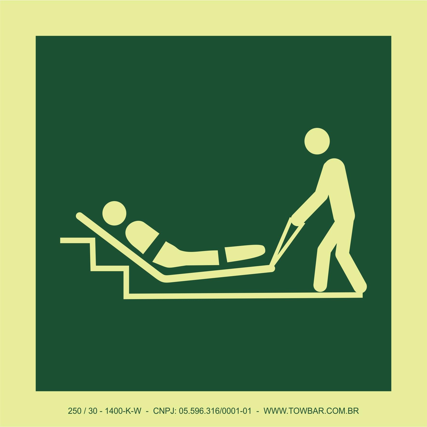 Colchão de evacuação (Evacuation mattress)  - Towbar Sinalização de Segurança
