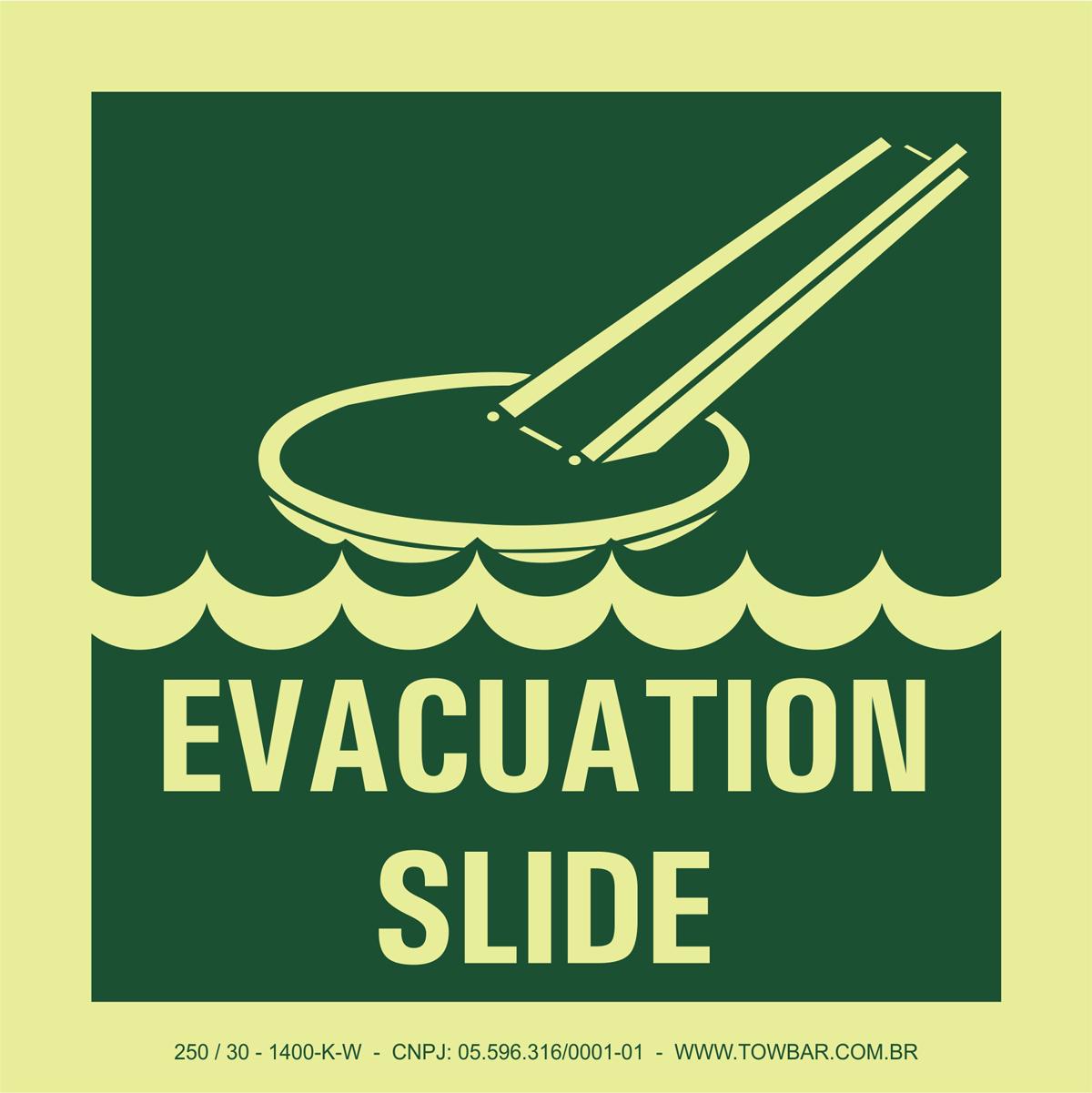 Evacuation Slide  - Towbar Sinalização de Segurança