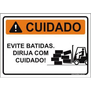 Evite batidas dirija com cuidado  - Towbar Sinalização de Segurança