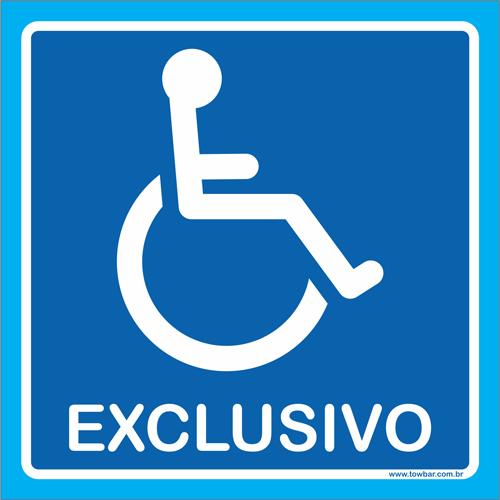 Placa exclusivo para cadeirante  - Towbar Sinalização de Segurança