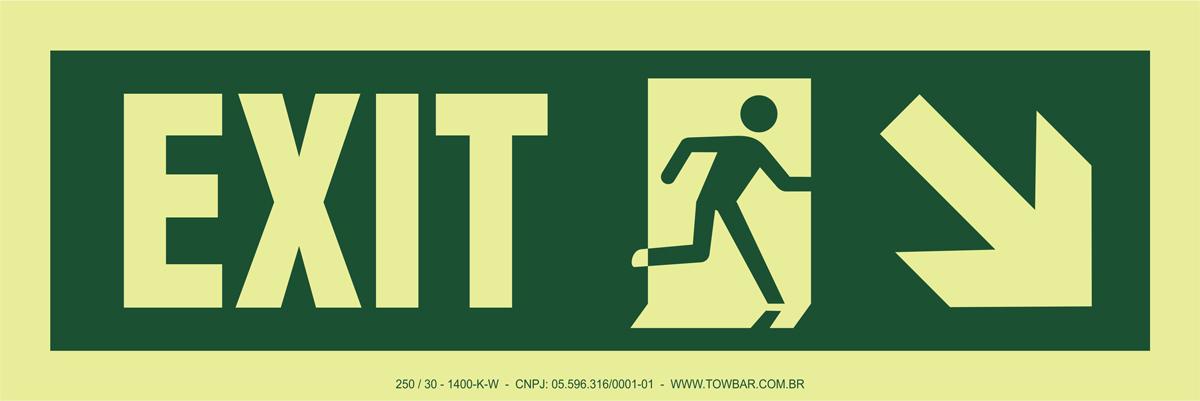 Exit Left-man Run Right-arrow Down/right  - Towbar Sinalização de Segurança