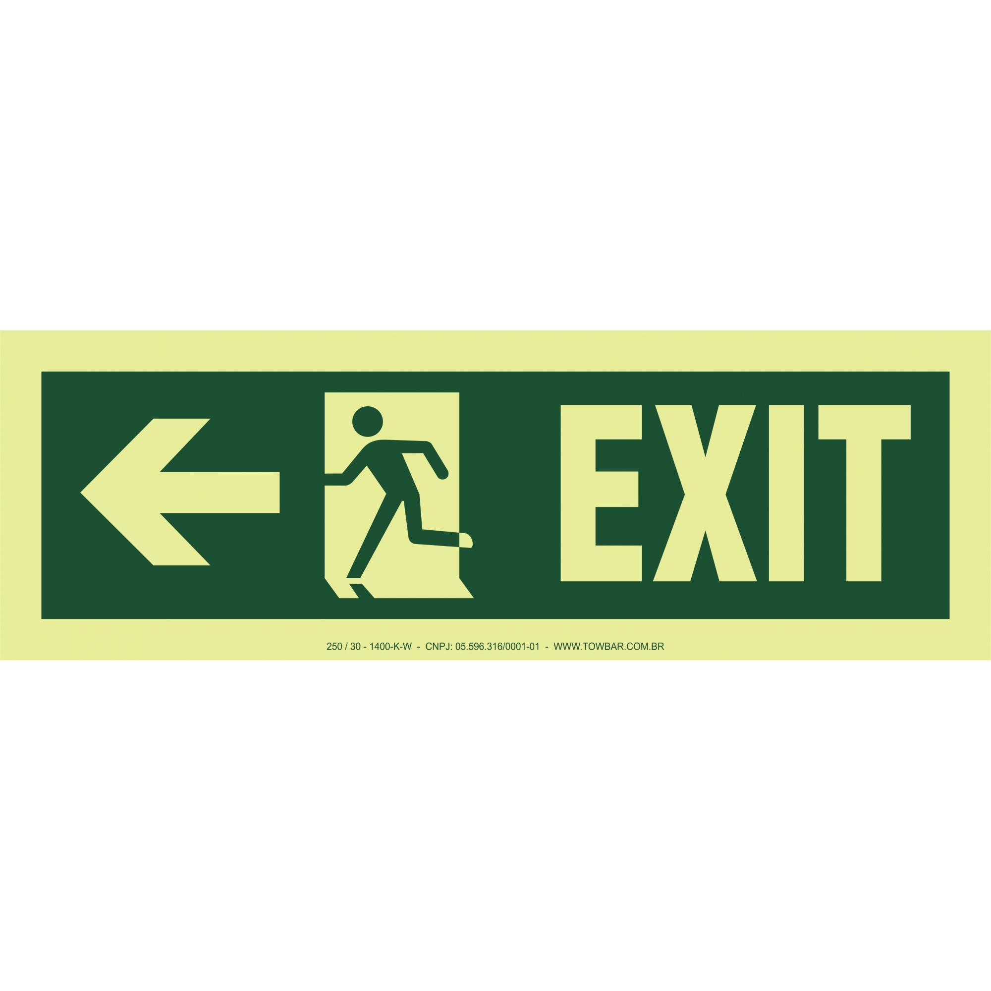 Exit Right-man Run Left-arrow Left  - Towbar Sinalização de Segurança