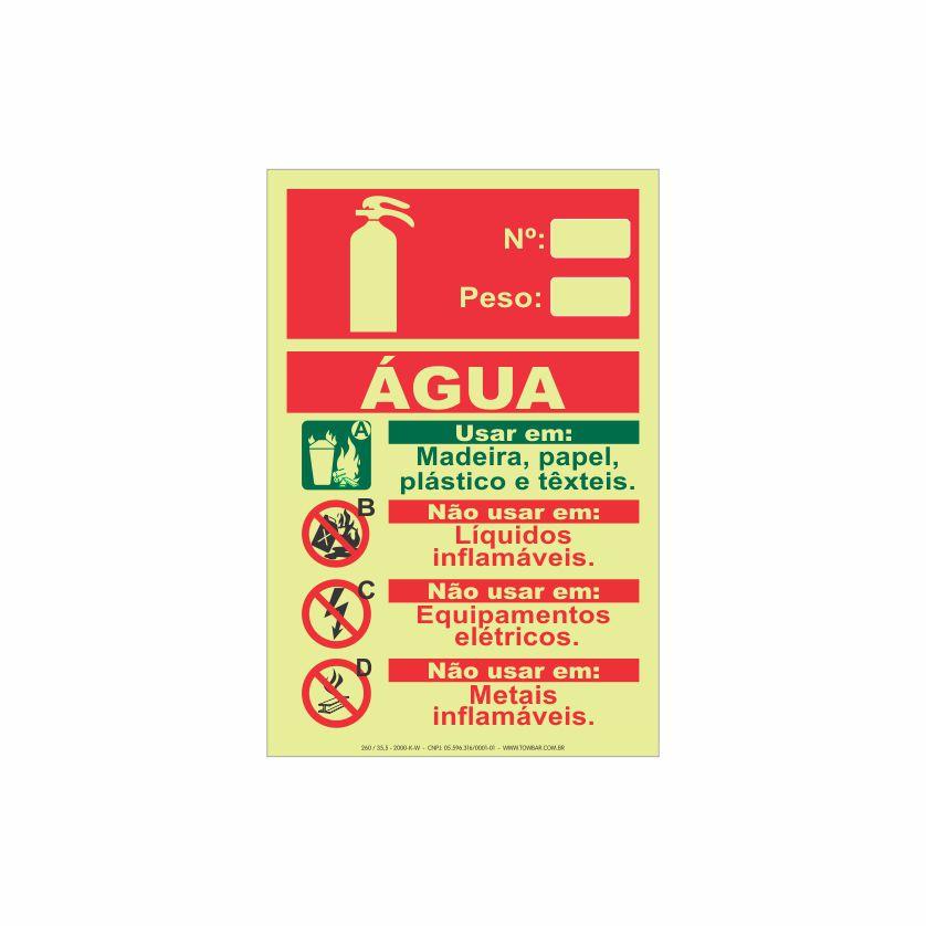 Extintor água  - Towbar Sinalização de Segurança