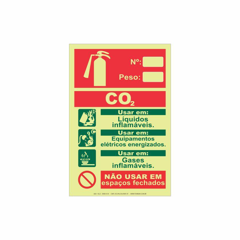 Extintor CO2  - Towbar Sinalização de Segurança