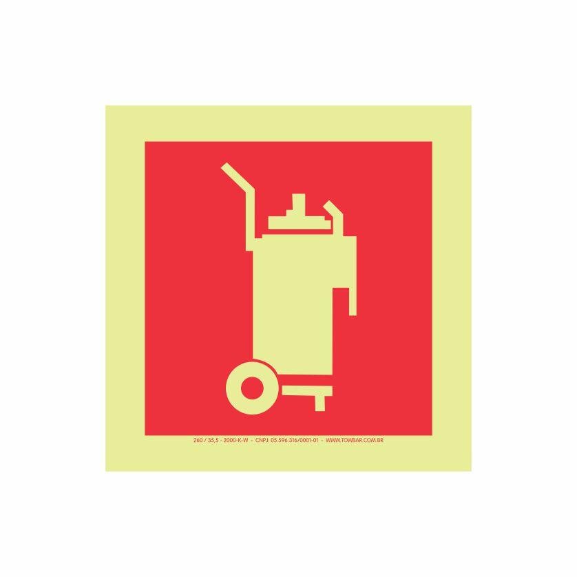 Extintor de Incêndio Carreta  - Towbar Sinalização de Segurança