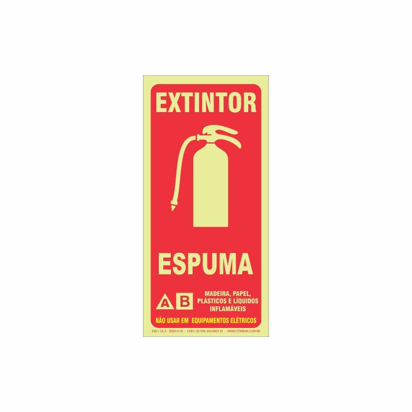 Extintor espuma  - Towbar Sinalização de Segurança