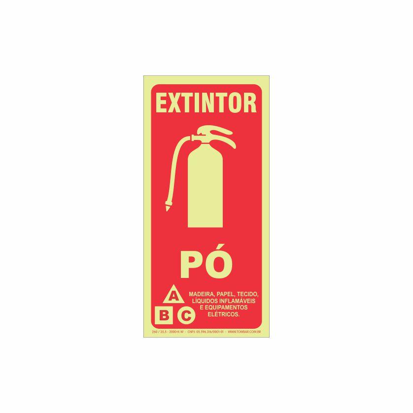Extintor pó ABC  - Towbar Sinalização de Segurança
