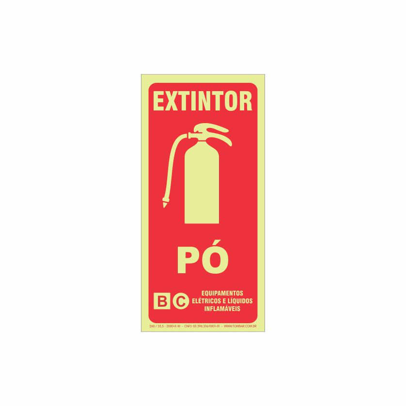 Extintor Pó BC  - Towbar Sinalização de Segurança