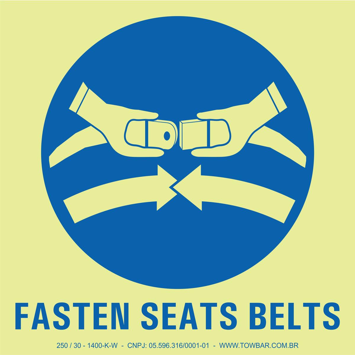 Fasten Seats Belts  - Towbar Sinalização de Segurança