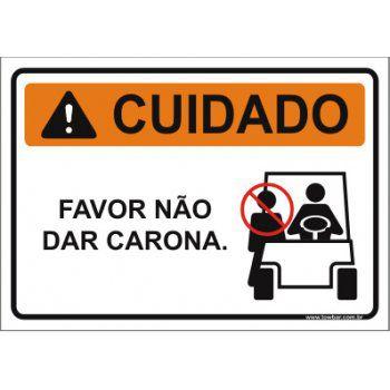 Favor não dá carona  - Towbar Sinalização de Segurança