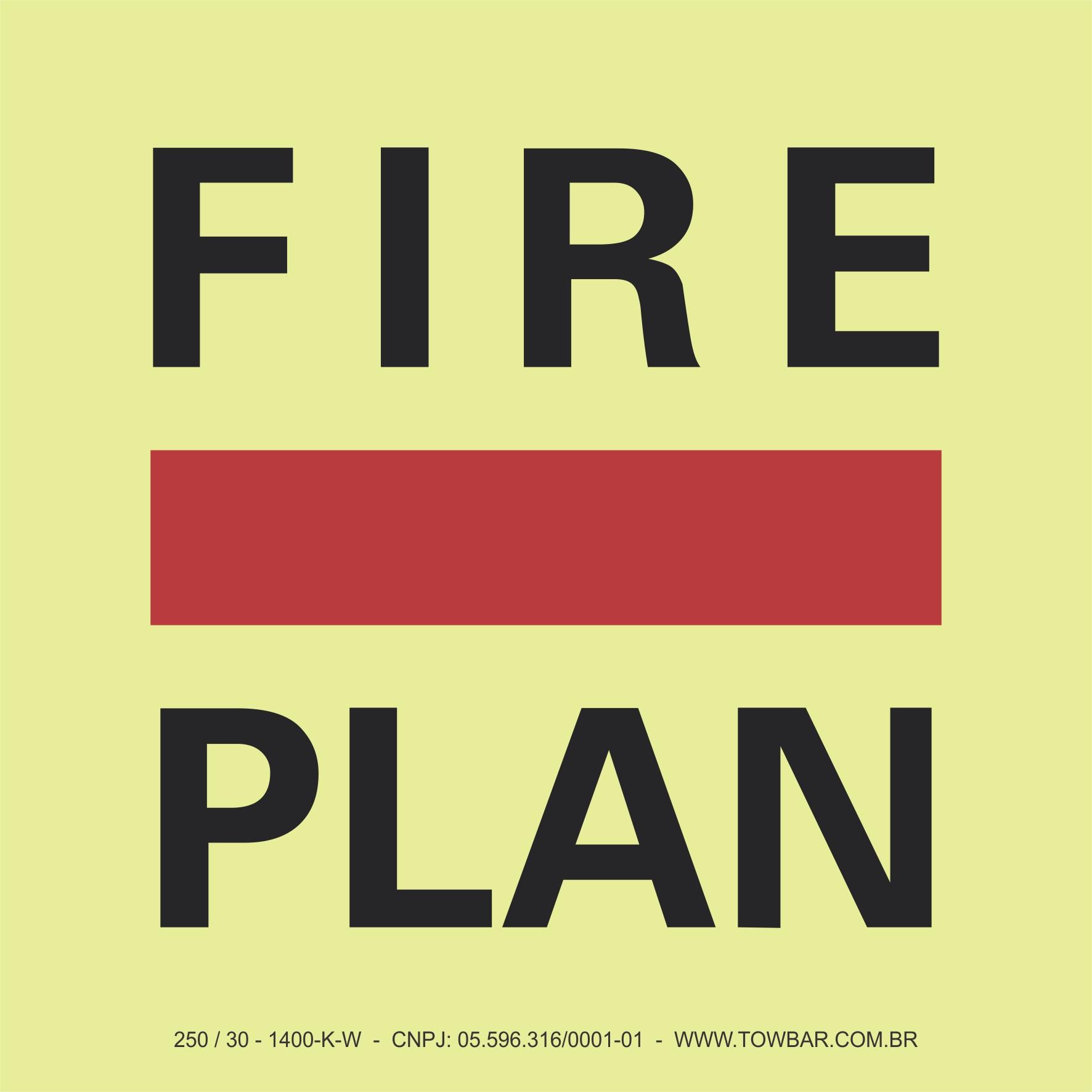 Fire Control Plan  - Towbar Sinalização de Segurança
