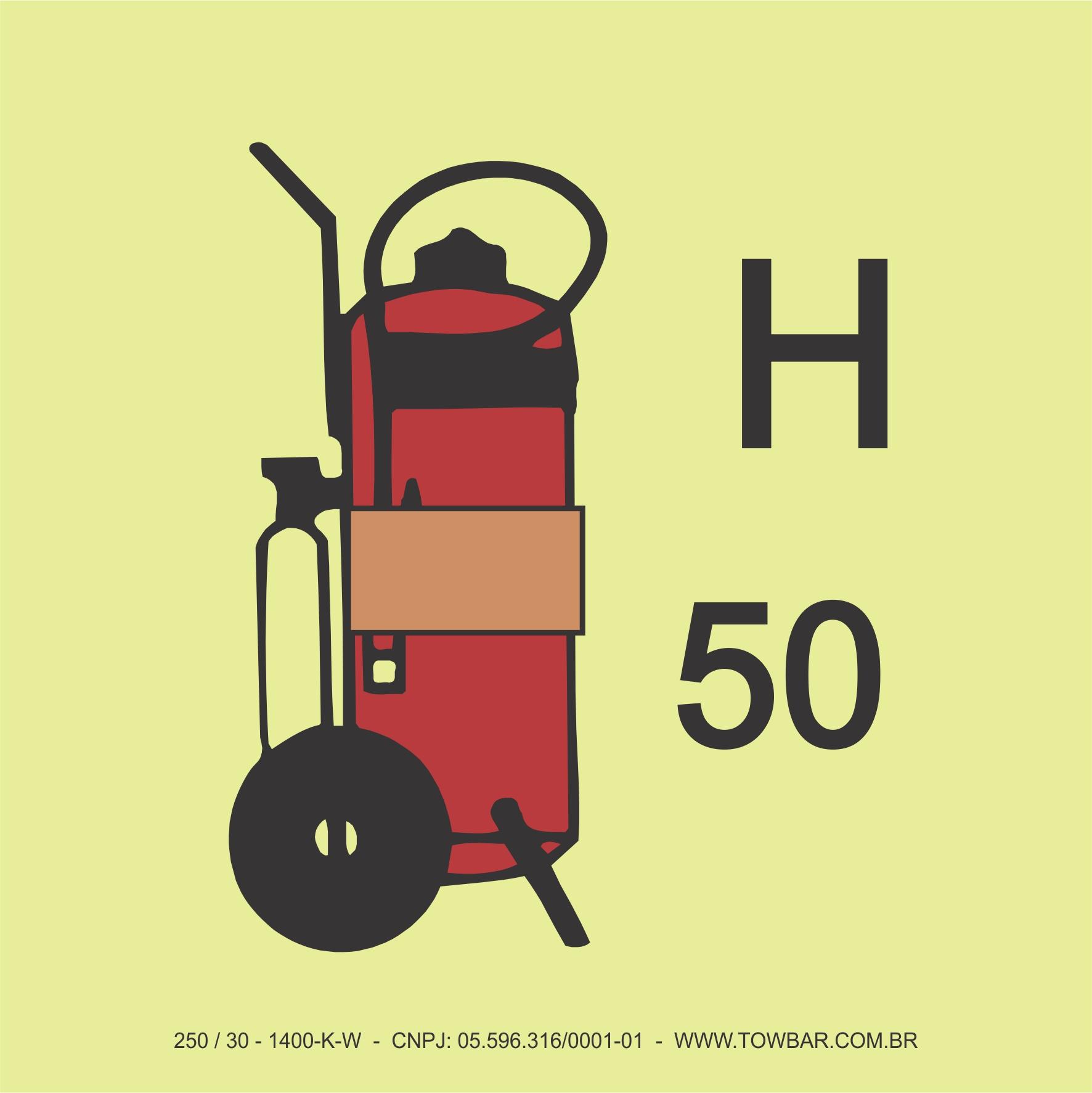 Fire Extinguisher (Gases other than CO2)  - Towbar Sinalização de Segurança
