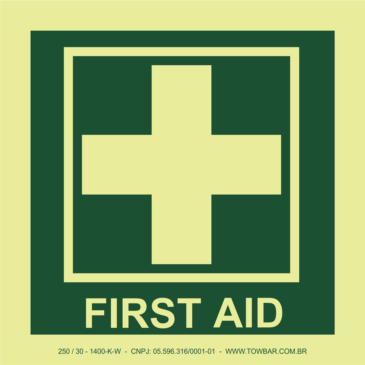 First Aid   - Towbar Sinalização de Segurança