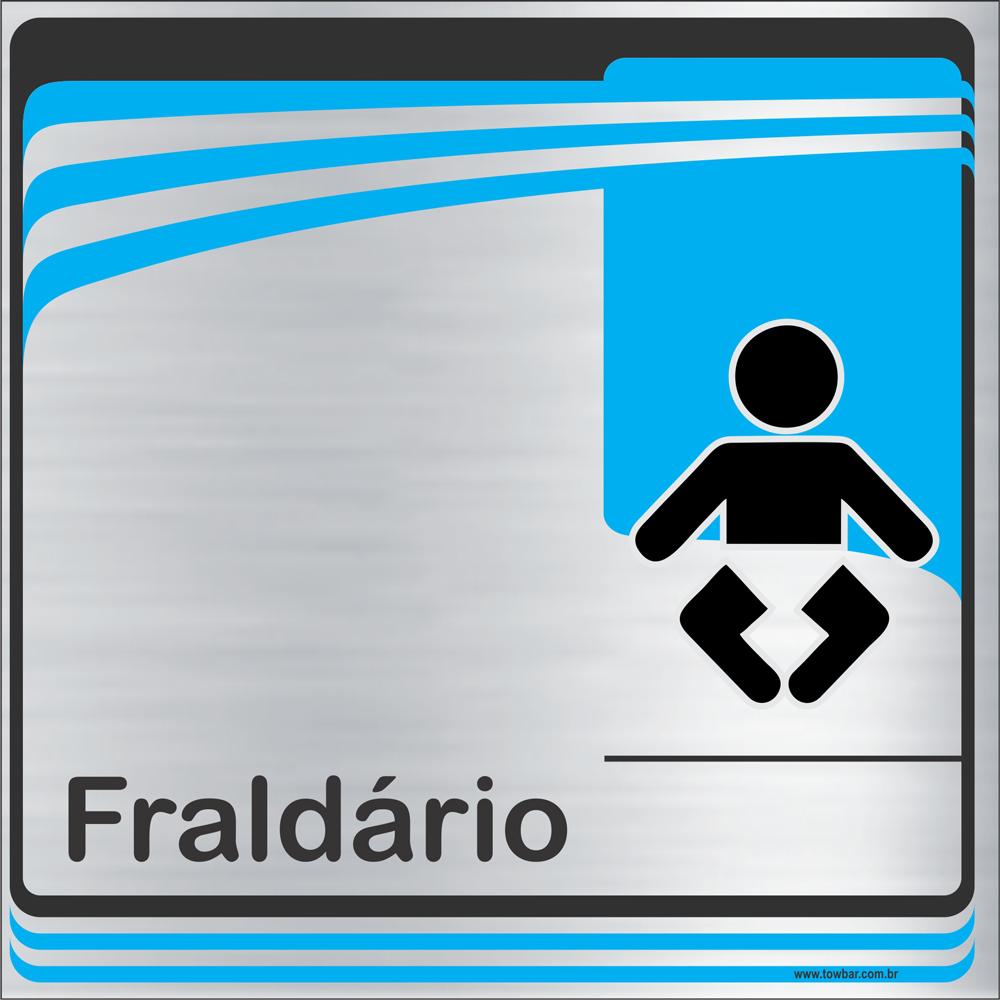 Identificação Fraldário (20x20cm)  - Towbar Sinalização de Segurança