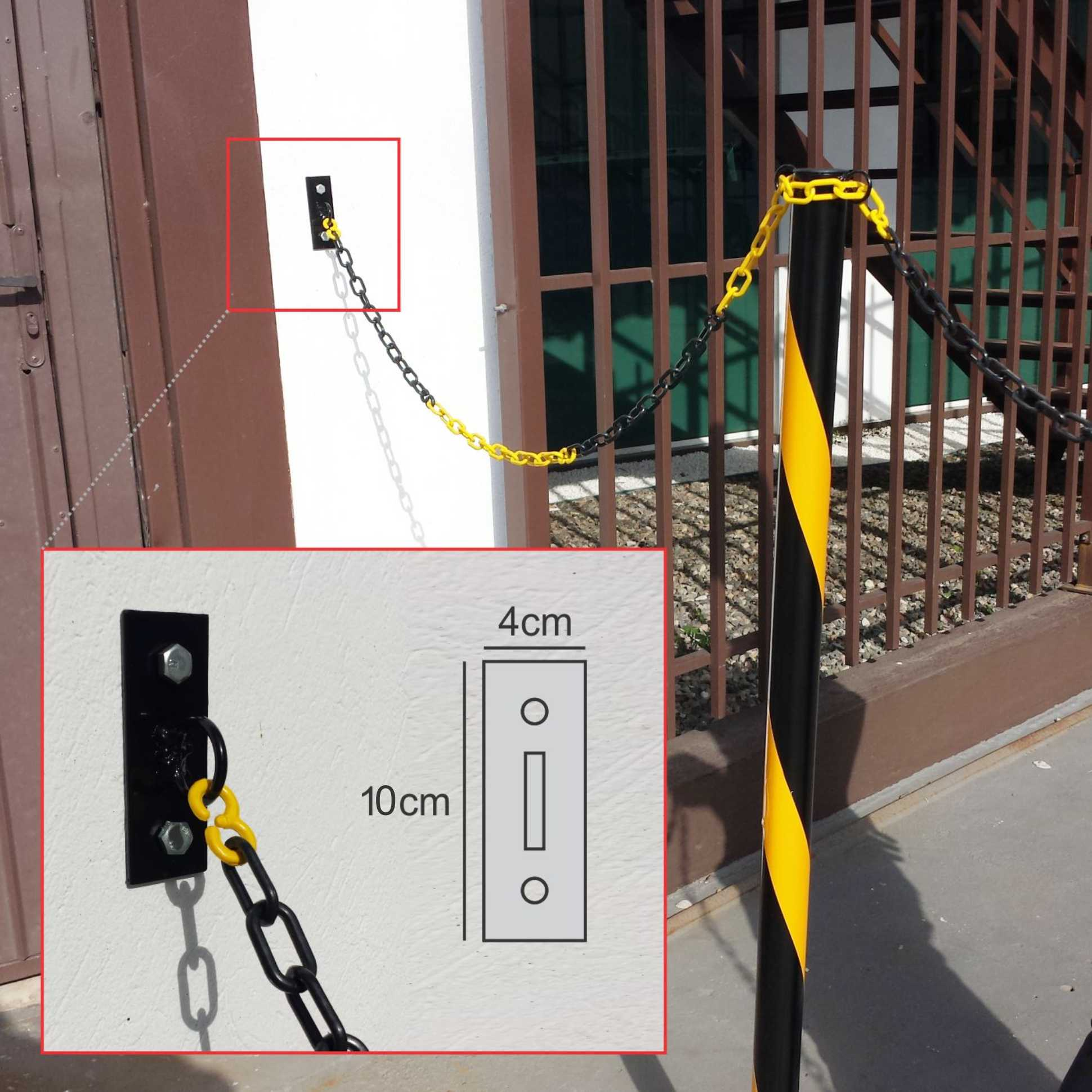 Gancho para correntes demarcador de estacionamento (par)  - Towbar Sinalização de Segurança