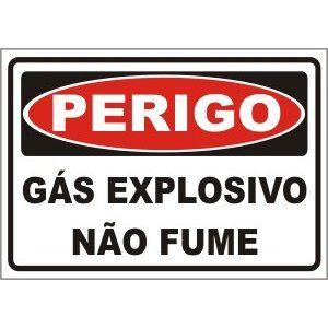 Gás explosivo não fume  - Towbar Sinalização de Segurança
