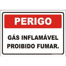 Gás inflamável proibido fumar  - Towbar Sinalização de Segurança