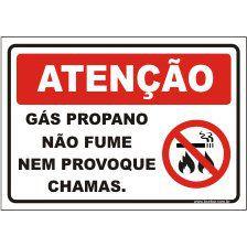 Gás propano não fume  - Towbar Sinalização de Segurança