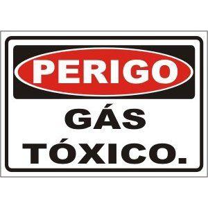 Gás tóxico  - Towbar Sinalização de Segurança