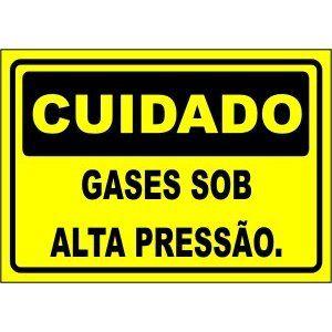 Gases Sob Alta Pressão  - Towbar Sinalização de Segurança