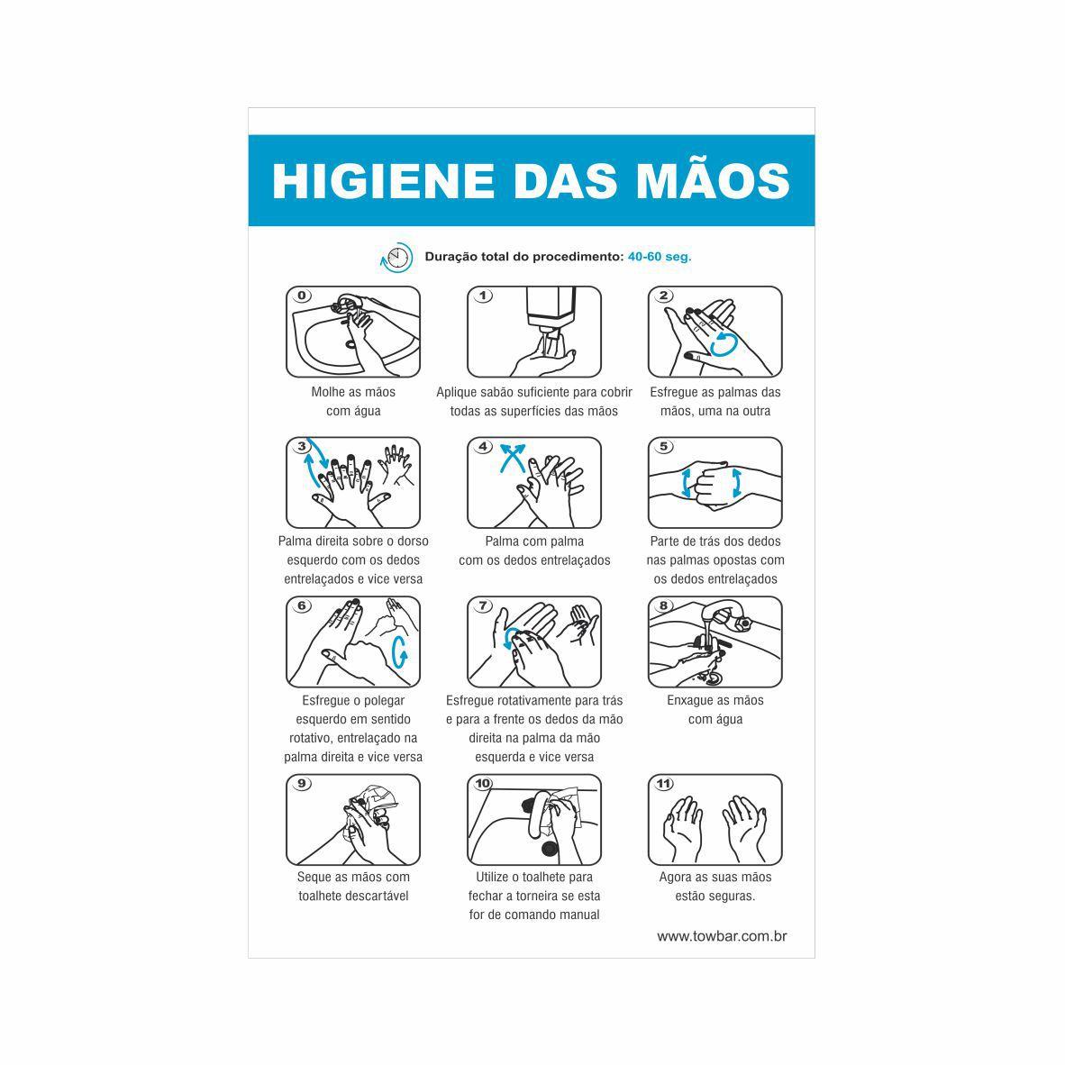 Higiene das mãos  - Towbar Sinalização de Segurança