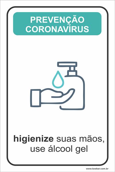 Higienize suas Mãos  - Towbar Sinalização de Segurança