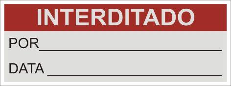Interditado  - Towbar Sinalização de Segurança