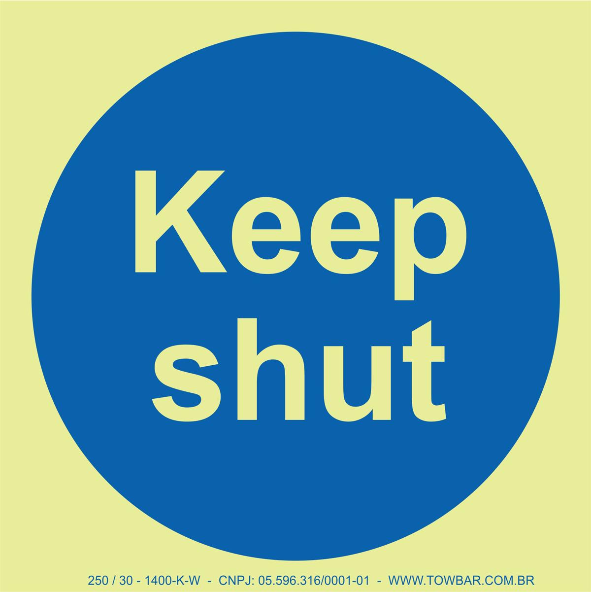 Keep Shut  - Towbar Sinalização de Segurança