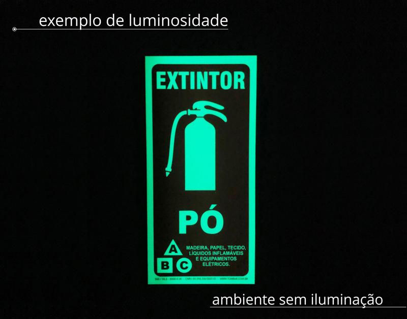 Kit placa de incêndio - extintor + proibido colocar materiais  - Towbar Sinalização de Segurança