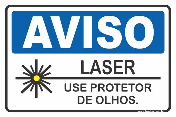 Laser Use Protetor de Olhos.  - Towbar Sinalização de Segurança