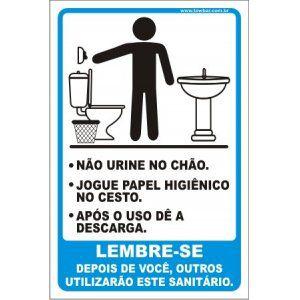 Lembre-se não jogue lixo no chão  - Towbar Sinalização de Segurança