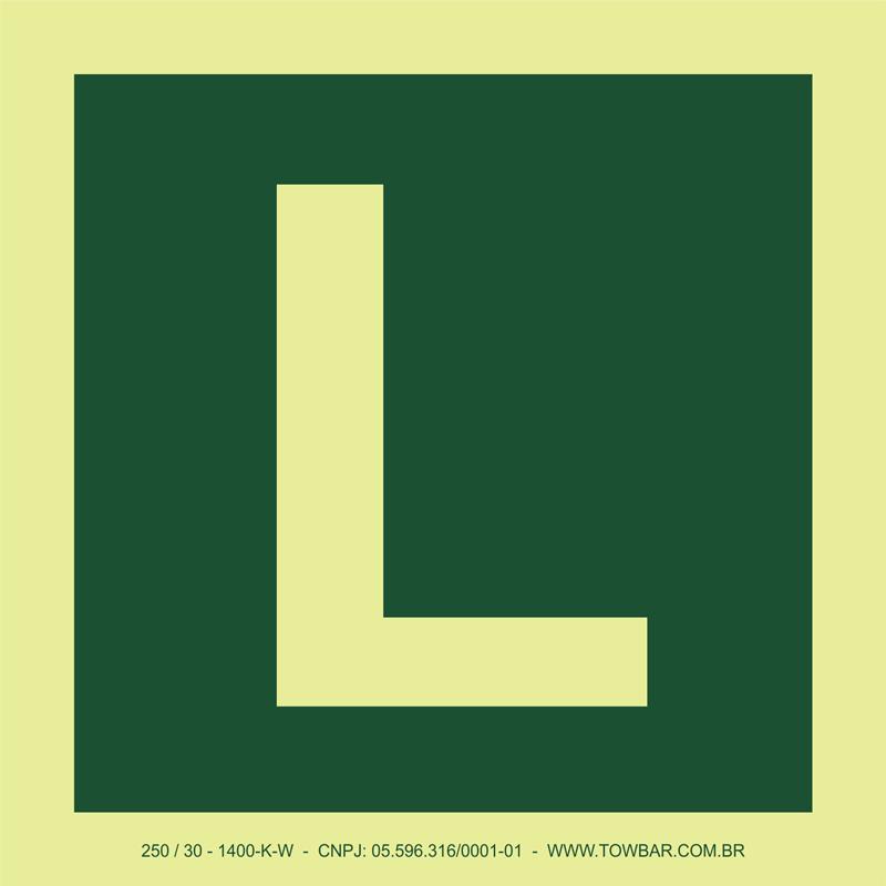 Letra L  - Towbar Sinalização de Segurança