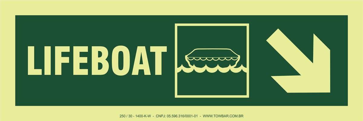 Lifeboat Side Down Right  - Towbar Sinalização de Segurança