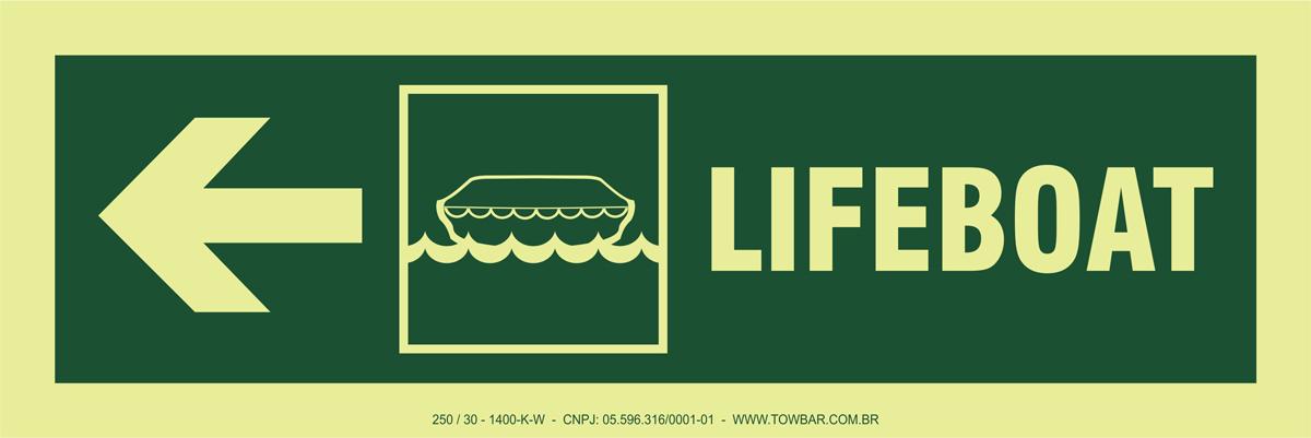 Lifeboat Side Left  - Towbar Sinalização de Segurança