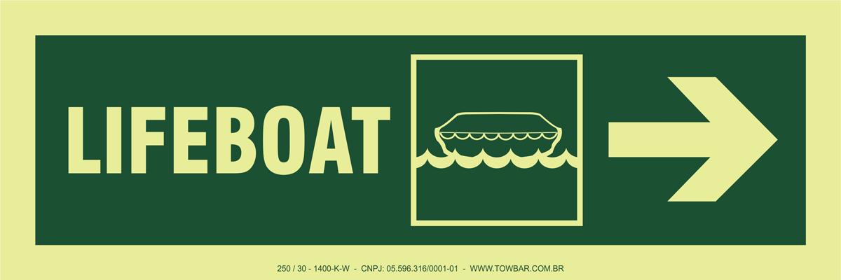 Lifeboat Side Right  - Towbar Sinalização de Segurança