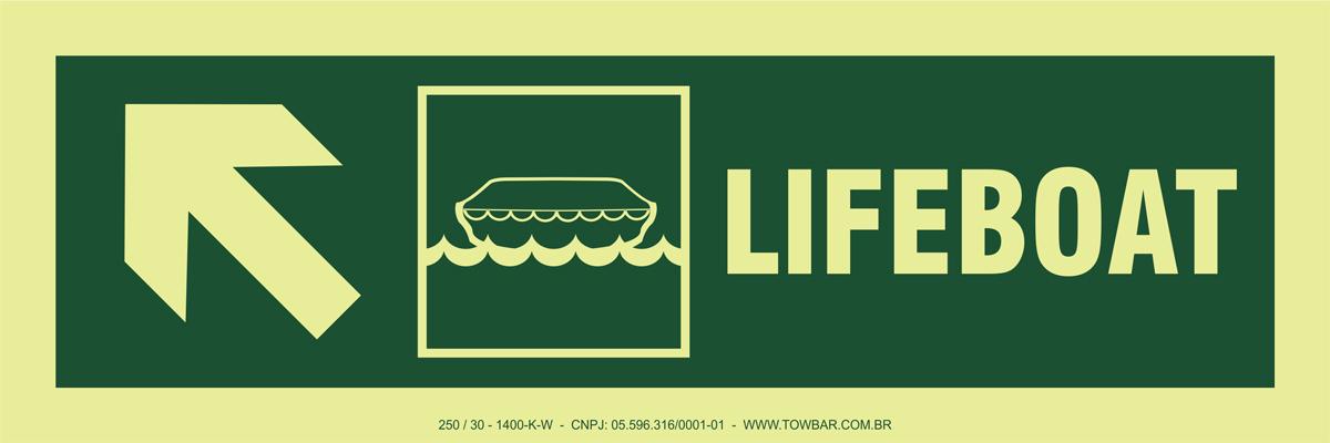 Lifeboat Side Up Left  - Towbar Sinalização de Segurança
