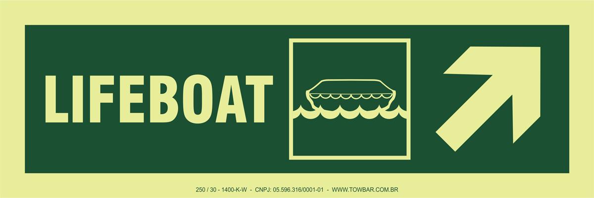 Lifeboat Side Up Right  - Towbar Sinalização de Segurança