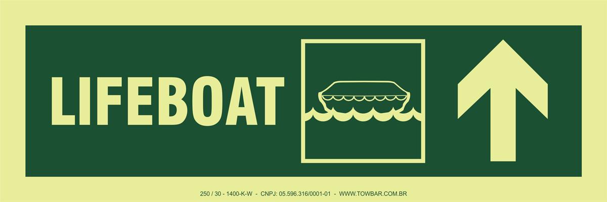 Lifeboat Up Right  - Towbar Sinalização de Segurança