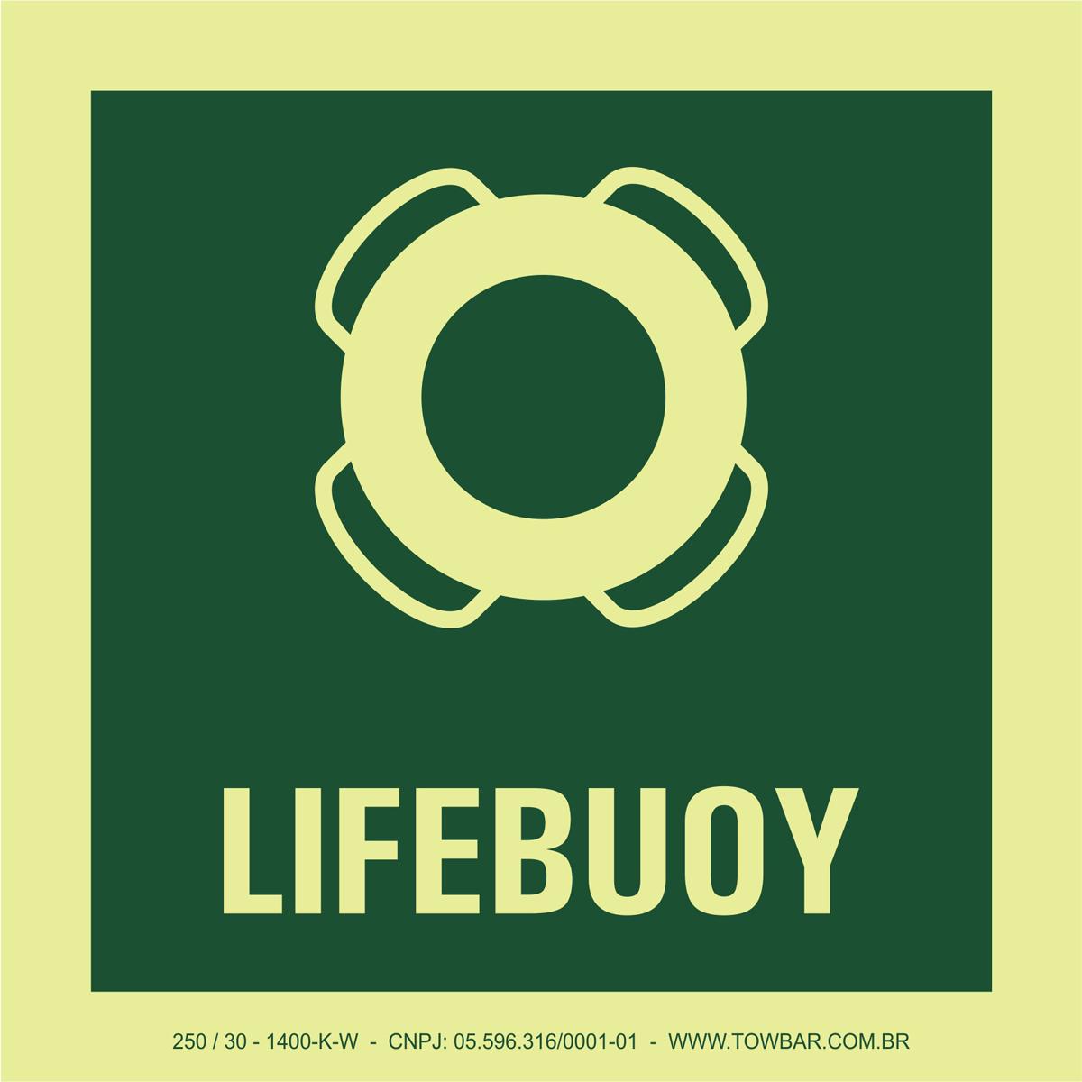 Bóia salva-vidas (Lifebuoy)  - Towbar Sinalização de Segurança