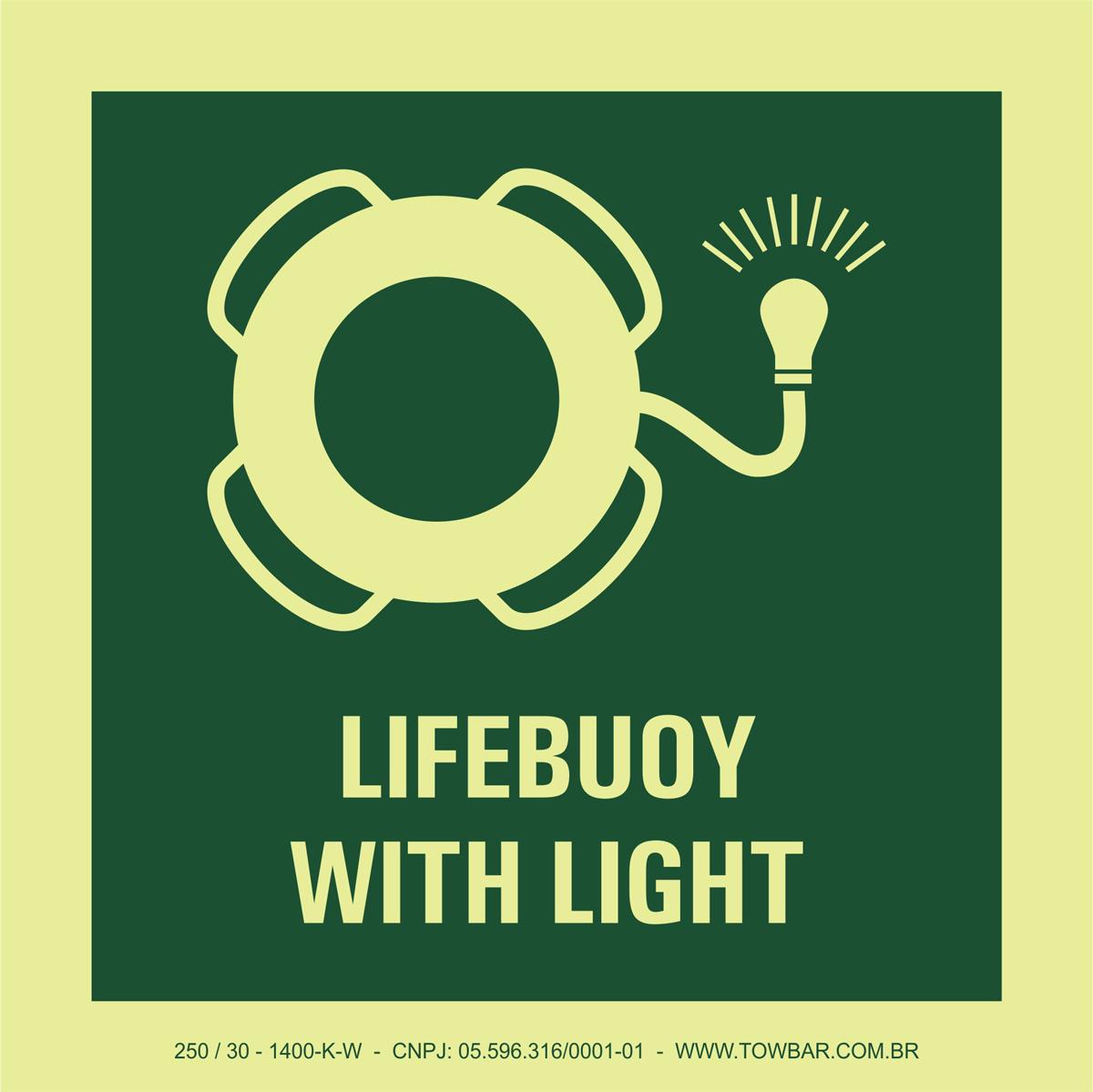 Lifebuoy with Light  - Towbar Sinalização de Segurança