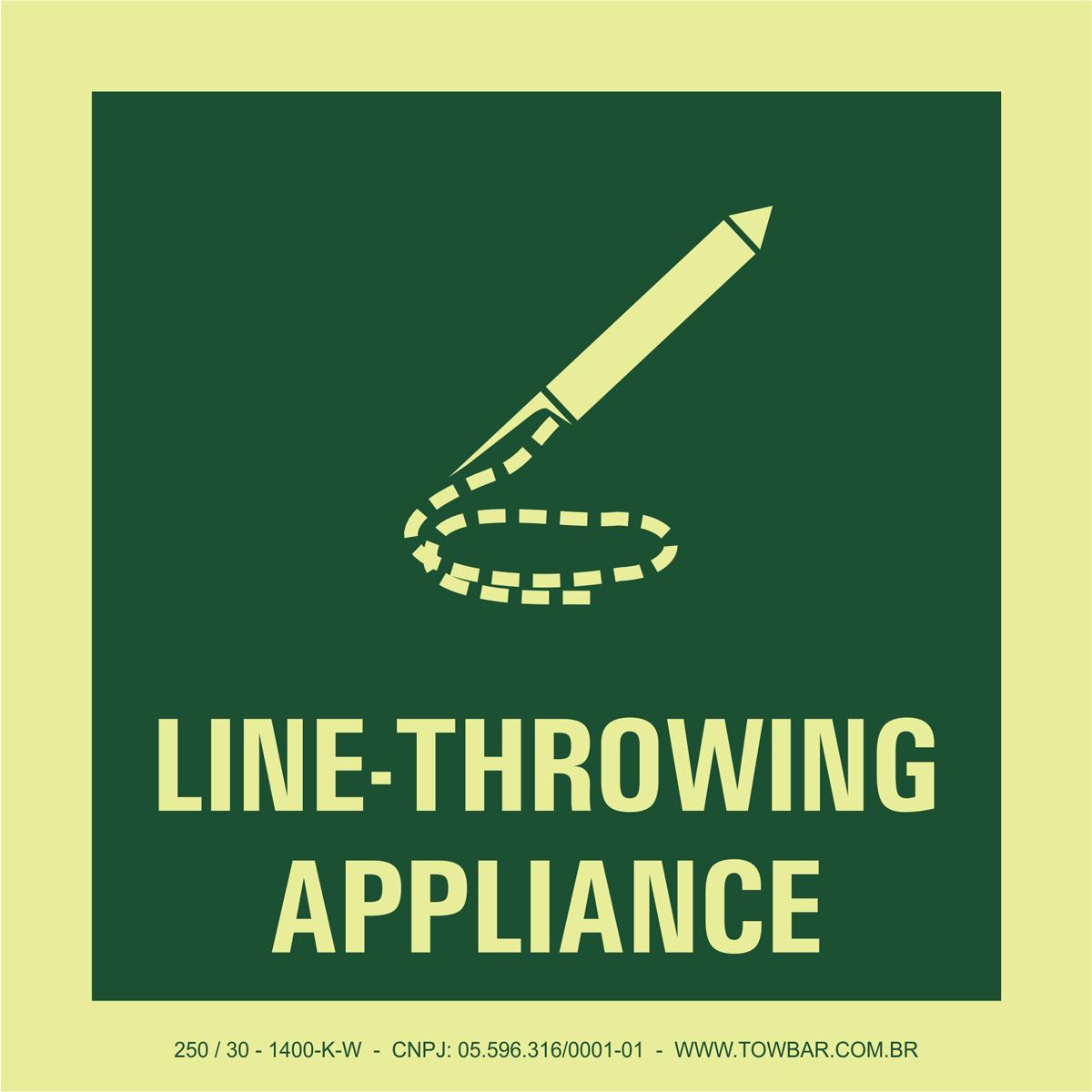 Line-Throwing Appliance  - Towbar Sinalização de Segurança