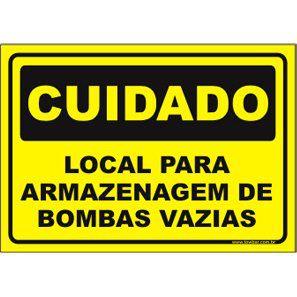 Local para armazenagem de bombas vazias  - Towbar Sinalização de Segurança