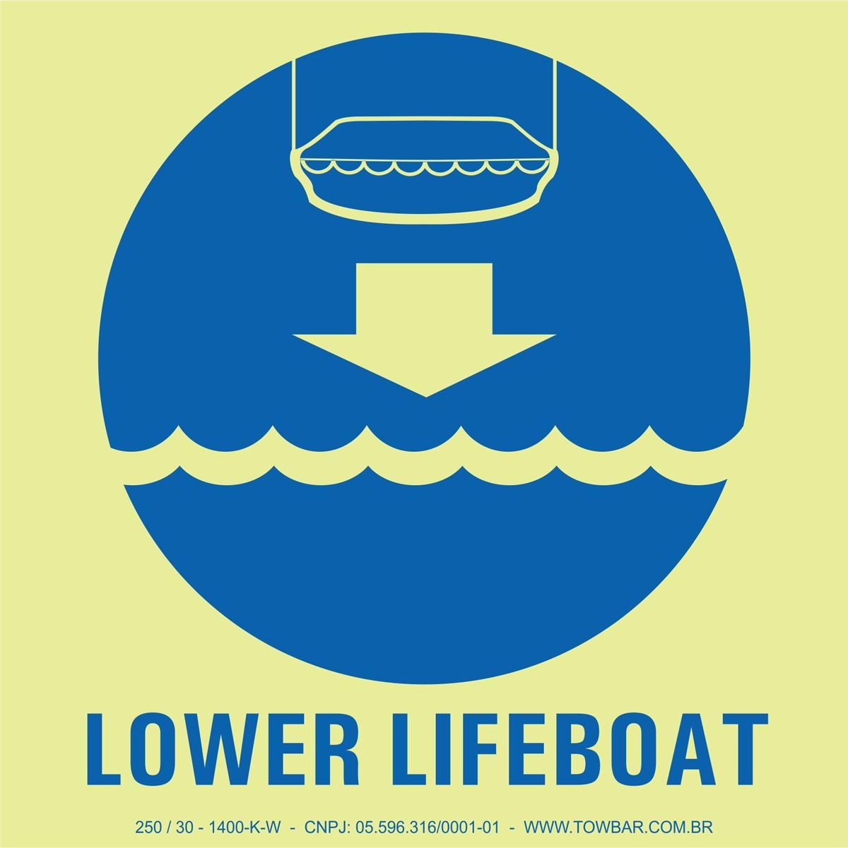 Baixar Bote (Lower Lifeboat)  - Towbar Sinalização de Segurança
