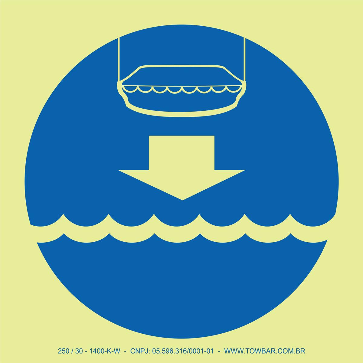 Lower Lifeboat  - Towbar Sinalização de Segurança