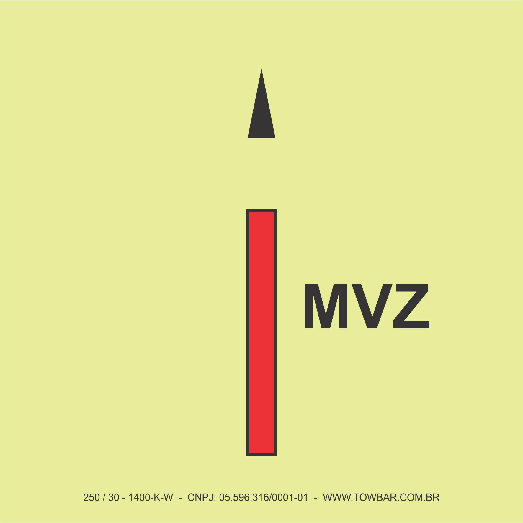 Main Vertical Zone   - Towbar Sinalização de Segurança
