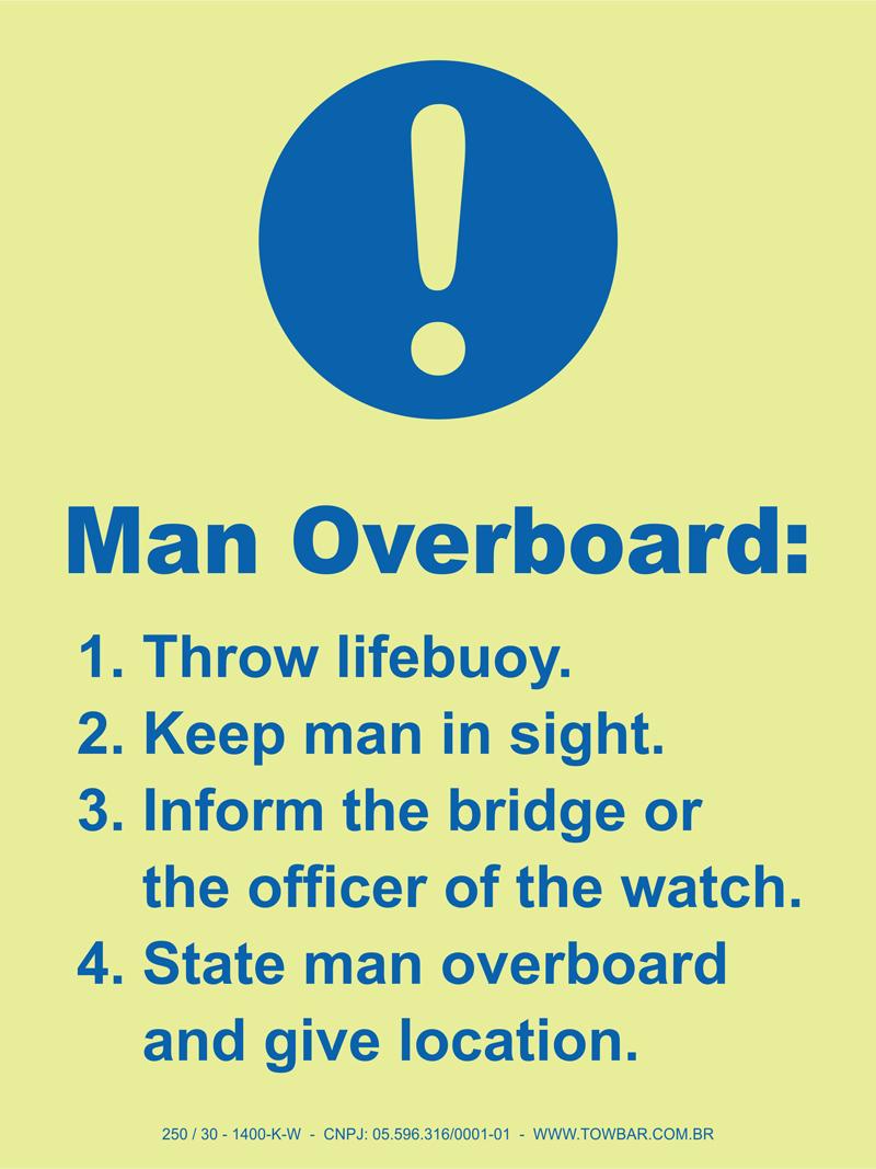 Man Overboard  - Towbar Sinalização de Segurança