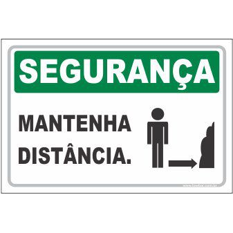 Mantenha distância  - Towbar Sinalização de Segurança