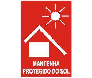 Mantenha protegido do sol  - Towbar Sinalização de Segurança