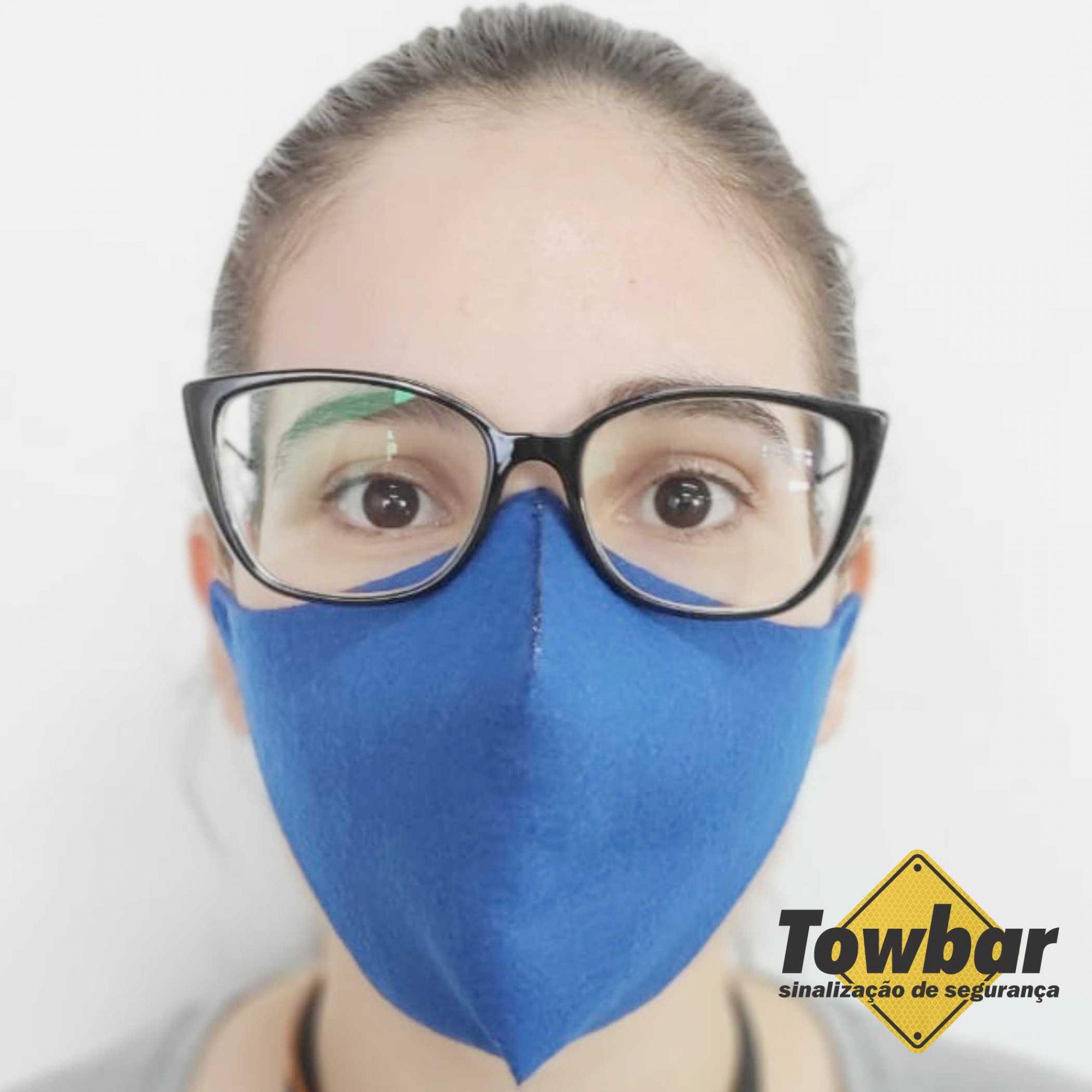 Máscara de proteção reutilizável - pacote com 5 unid  - Towbar Sinalização de Segurança