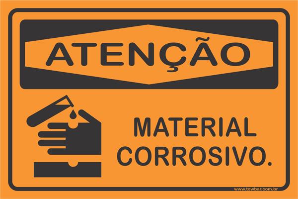 Material Corrosivo  - Towbar Sinalização de Segurança